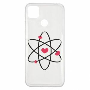Xiaomi Redmi 9c Case Molecule of hearts
