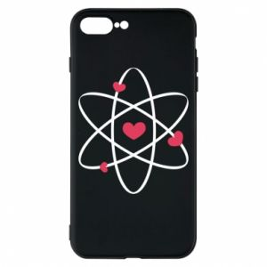 Phone case for iPhone 8 Plus Molecule of hearts