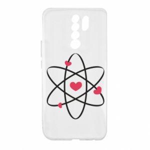 Xiaomi Redmi 9 Case Molecule of hearts
