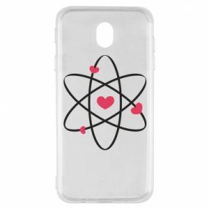 Samsung J7 2017 Case Molecule of hearts