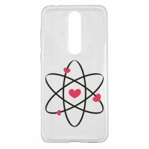 Nokia 5.1 Plus Case Molecule of hearts