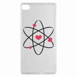 Huawei P8 Case Molecule of hearts
