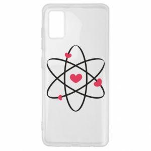 Samsung A41 Case Molecule of hearts