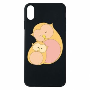 Etui na iPhone Xs Max Mom owl and baby owl