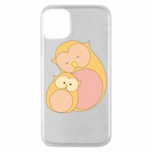 Etui na iPhone 11 Pro Mom owl and baby owl