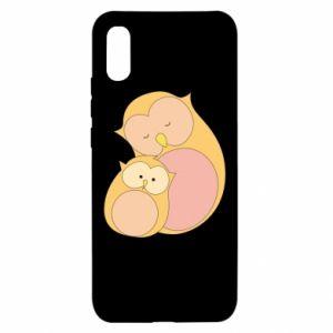 Etui na Xiaomi Redmi 9a Mom owl and baby owl