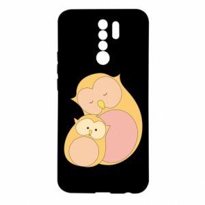 Etui na Xiaomi Redmi 9 Mom owl and baby owl