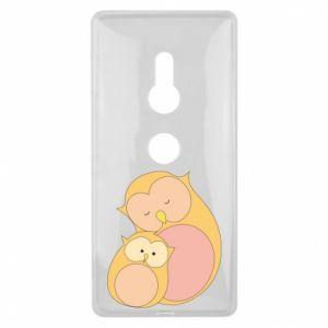 Etui na Sony Xperia XZ2 Mom owl and baby owl