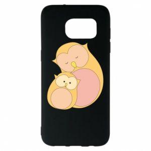 Etui na Samsung S7 EDGE Mom owl and baby owl