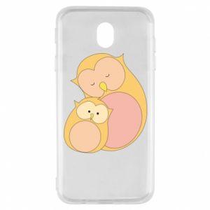 Etui na Samsung J7 2017 Mom owl and baby owl