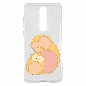 Etui na Nokia 5.1 Plus Mom owl and baby owl