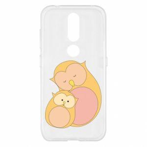 Etui na Nokia 4.2 Mom owl and baby owl