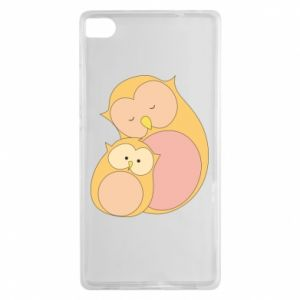 Etui na Huawei P8 Mom owl and baby owl