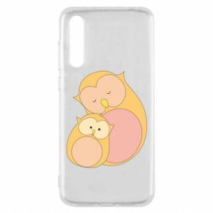 Etui na Huawei P20 Pro Mom owl and baby owl