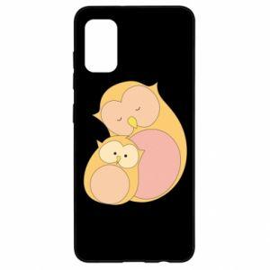 Etui na Samsung A41 Mom owl and baby owl
