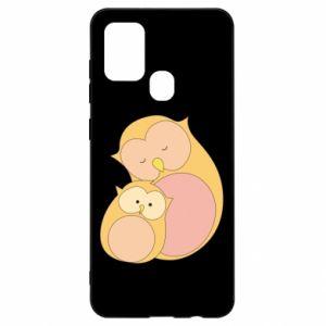 Etui na Samsung A21s Mom owl and baby owl