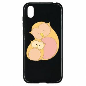 Etui na Huawei Y5 2019 Mom owl and baby owl