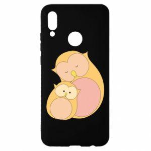 Etui na Huawei P Smart 2019 Mom owl and baby owl