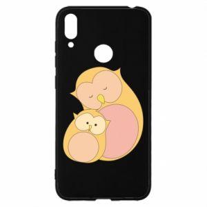 Etui na Huawei Y7 2019 Mom owl and baby owl
