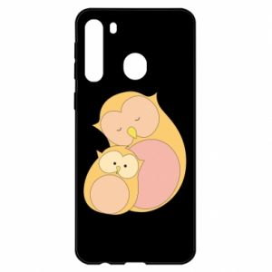 Etui na Samsung A21 Mom owl and baby owl