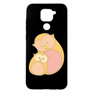 Xiaomi Redmi Note 9 / Redmi 10X case % print% Mom owl and baby owl