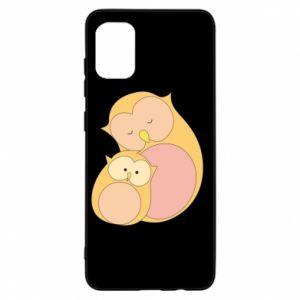Etui na Samsung A31 Mom owl and baby owl