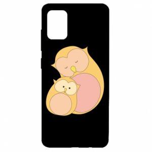 Etui na Samsung A51 Mom owl and baby owl