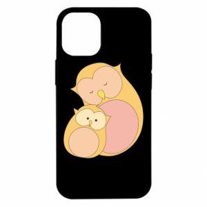 Etui na iPhone 12 Mini Mom owl and baby owl