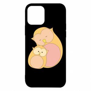 Etui na iPhone 12/12 Pro Mom owl and baby owl