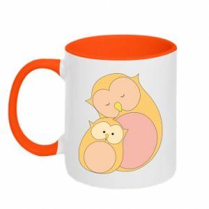 Kubek dwukolorowy Mom owl and baby owl