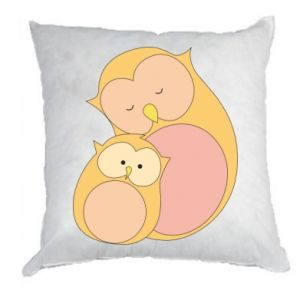 Poduszka Mom owl and baby owl