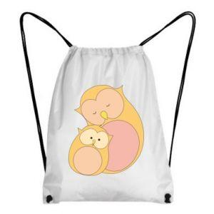 Plecak-worek Mom owl and baby owl