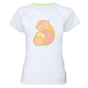 Koszulka sportowa damska Mom owl and baby owl