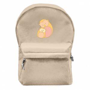 Plecak z przednią kieszenią Mom owl and baby owl