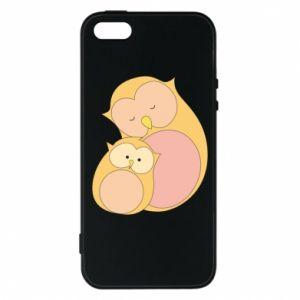 Etui na iPhone 5/5S/SE Mom owl and baby owl