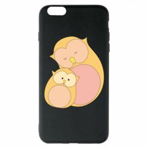 Etui na iPhone 6 Plus/6S Plus Mom owl and baby owl
