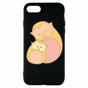 Etui na iPhone 7 Mom owl and baby owl