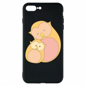 Etui do iPhone 7 Plus Mom owl and baby owl