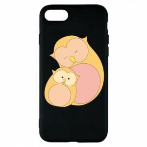 Etui na iPhone 8 Mom owl and baby owl