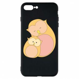 Etui na iPhone 8 Plus Mom owl and baby owl