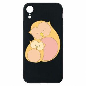 Etui na iPhone XR Mom owl and baby owl