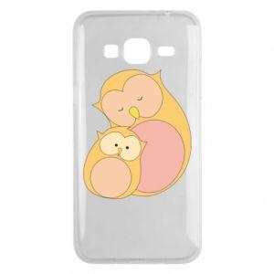 Etui na Samsung J3 2016 Mom owl and baby owl