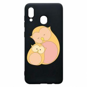 Etui na Samsung A20 Mom owl and baby owl