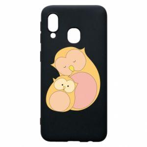 Etui na Samsung A40 Mom owl and baby owl
