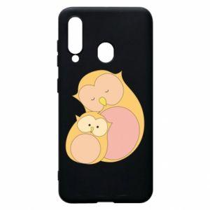 Etui na Samsung A60 Mom owl and baby owl