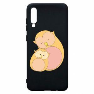 Etui na Samsung A70 Mom owl and baby owl