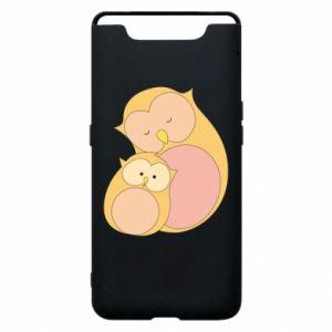 Etui na Samsung A80 Mom owl and baby owl