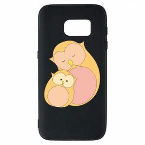 Etui na Samsung S7 Mom owl and baby owl