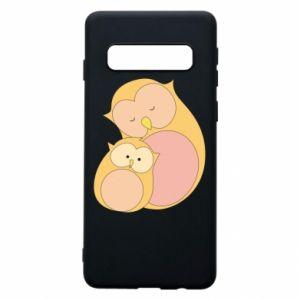 Etui na Samsung S10 Mom owl and baby owl