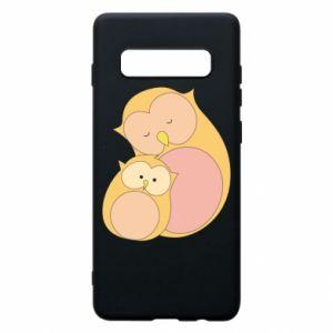 Etui na Samsung S10+ Mom owl and baby owl